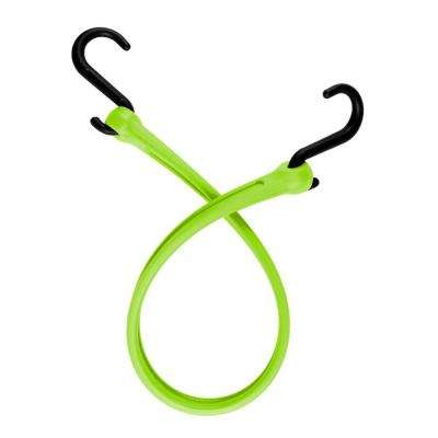 19 in.EZ-Stretch Polyurethane Bungee Strap with Nylon S-Hooks (Overall Length: 24 in. )
