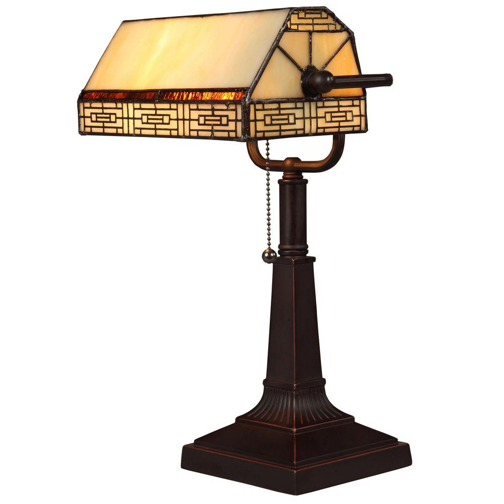 Hampton Bay Addison Banker's 16.25 in. Oil Rubbed Bronze Desk Lamp with CFL Bulbs
