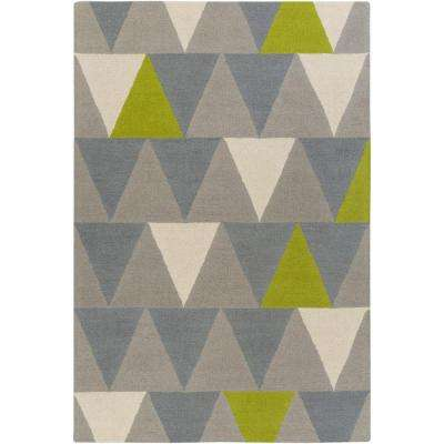 Hilda Rae Lime Green 3 Ft X 5 Ft Indoor Area Rug