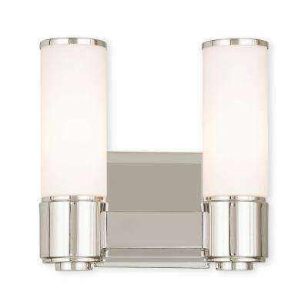 Weston 2-Light Polished Nickel ADA Bath Light