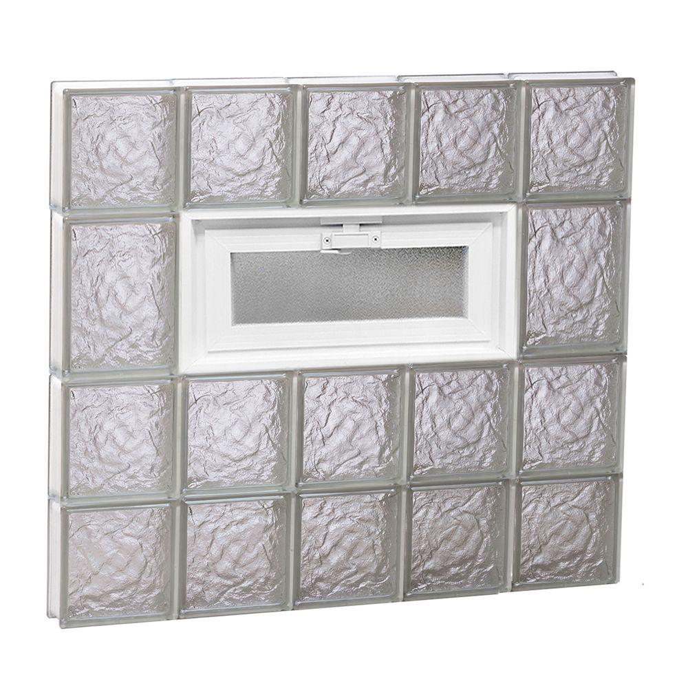 28.75 in. x 25 in. x 3.125 in. Frameless Ice Pattern