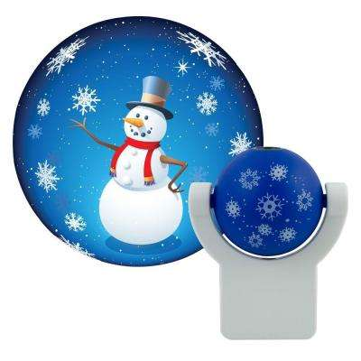 Holiday Snowman Automatic LED Night Light