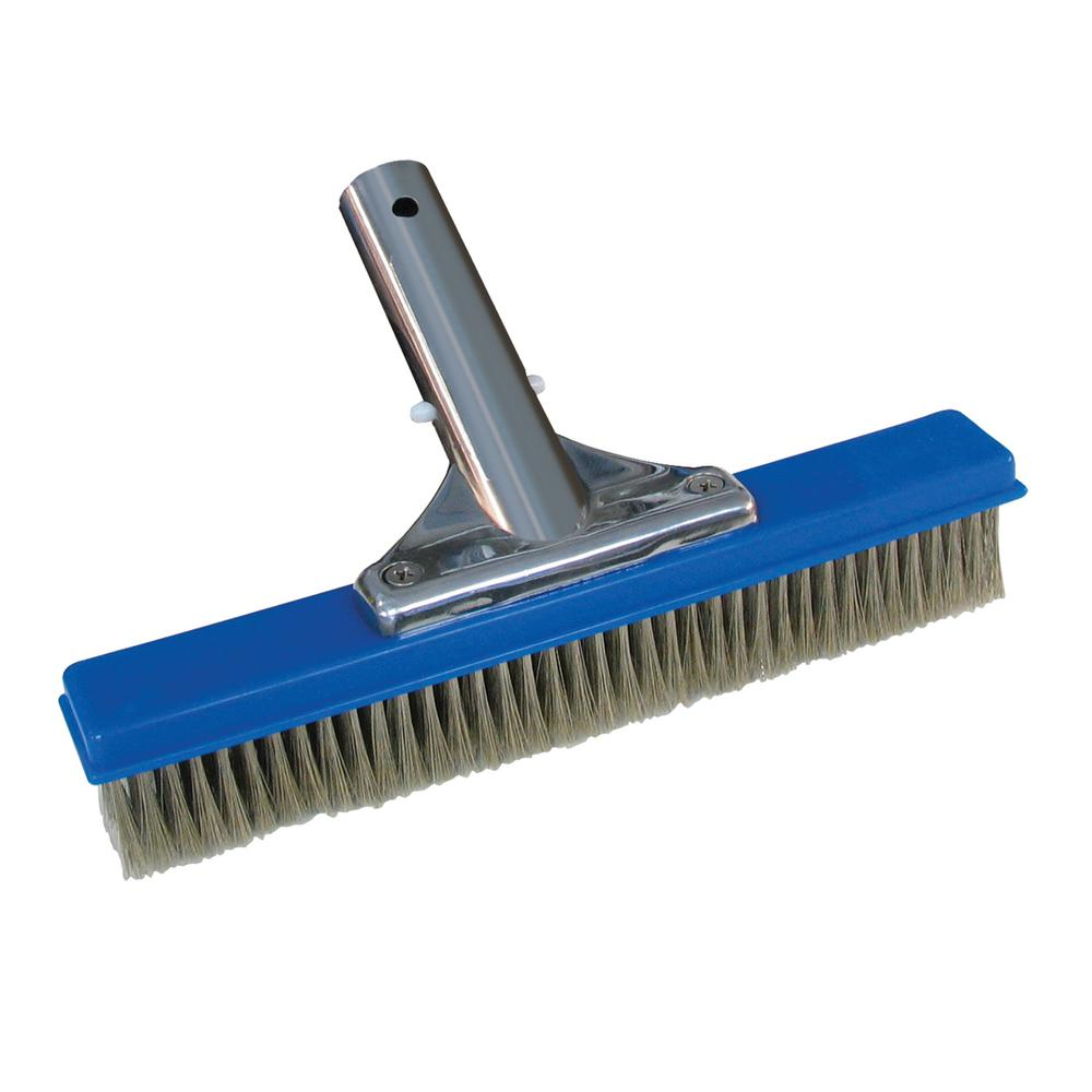 "10/"" 18/"" Algae Brush Swimming Pool Plastic// Stainless Steel Bristles Broom"