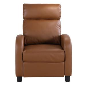 Marvelous Anabelle Light Brown Pvc Recliner 73021 89Lb The Home Depot Andrewgaddart Wooden Chair Designs For Living Room Andrewgaddartcom