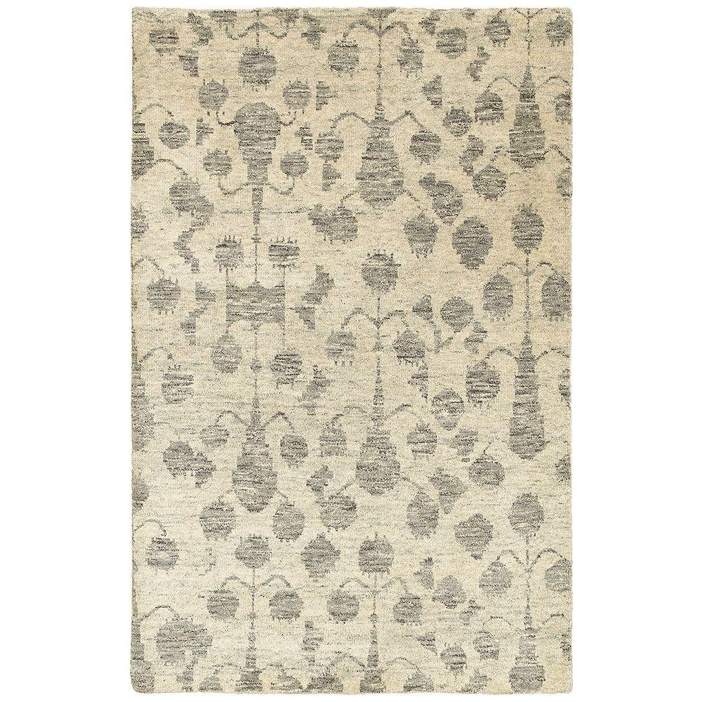 LR Resources Oushak Natural 5 ft. 6 in. x 8 ft. 6 in. Indoor Area Rug
