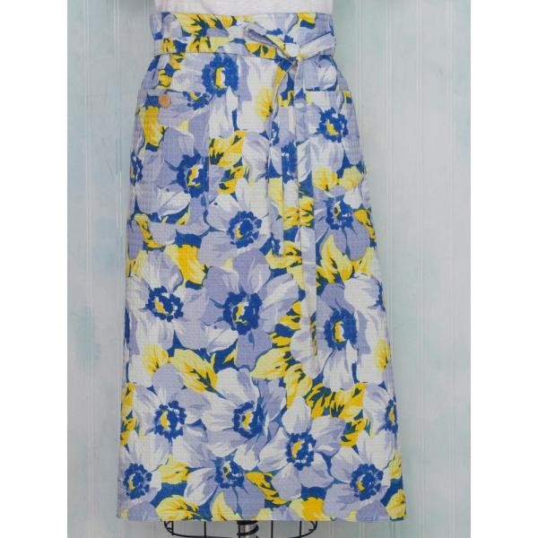 April Cornell Daydream Blue Floral Honeycomb Kitchen Apron APWDAYF.Blue