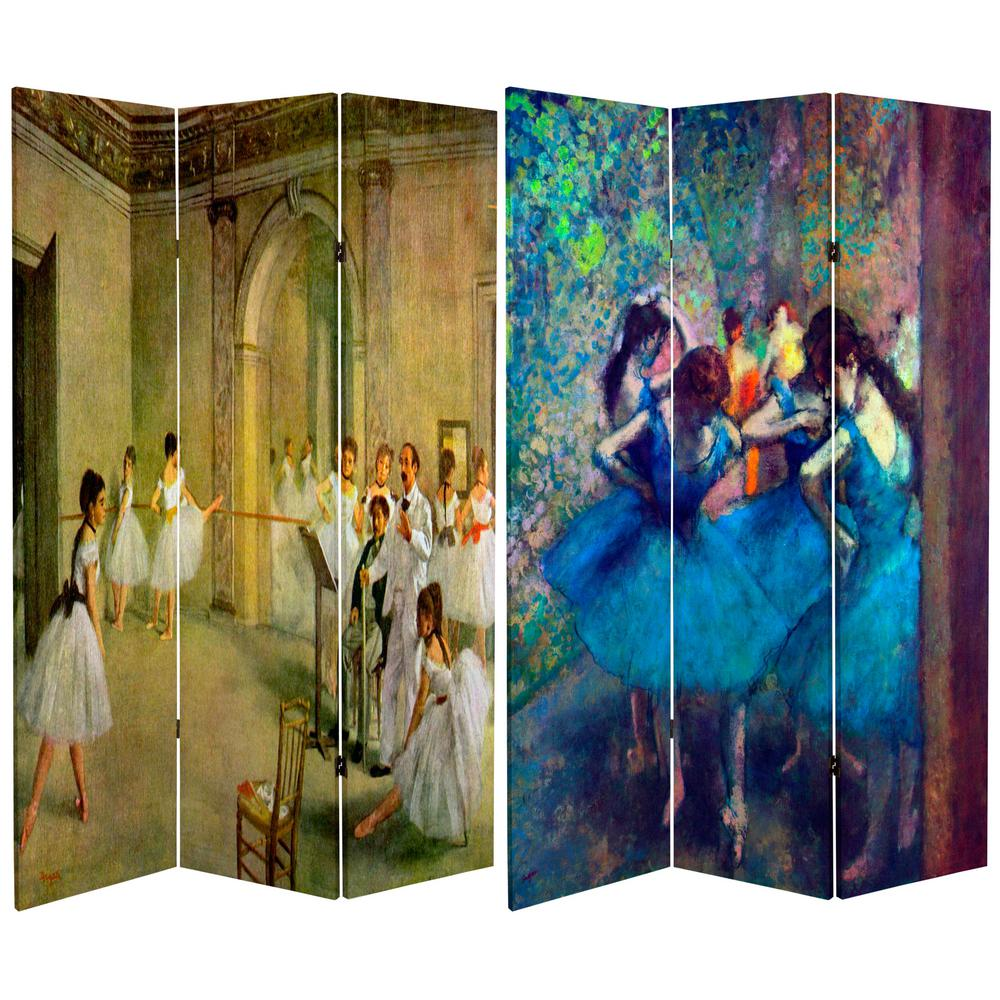 Oriental Unlimited 6 ft. Printed 3-Panel Room Divider