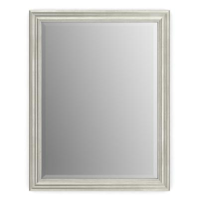 28 in. W x 36 in. H (M1) Framed Rectangular Deluxe Glass Bathroom Vanity Mirror in Vintage Nickel