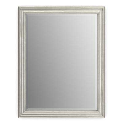28 in. x 36 in. (M1) Rectangular Framed Mirror with Deluxe Glass and Flush Mount Hardware in Vintage Nickel