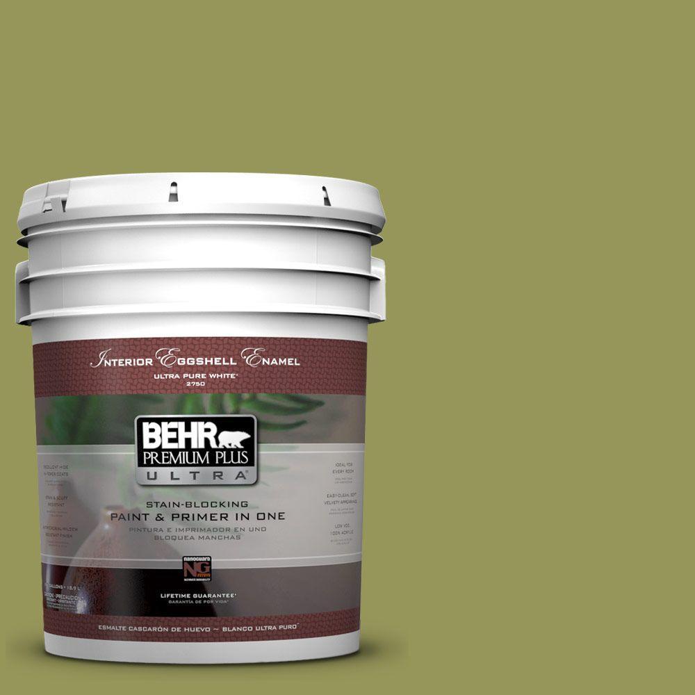 BEHR Premium Plus Ultra 5-gal. #M340-6 Spinach Dip Eggshell Enamel Interior Paint