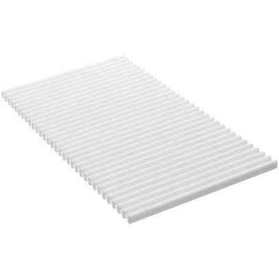 White Flexible Silicone Kitchen Trivet Mat