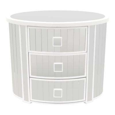 19.5 in. White Mirrored Cabinet