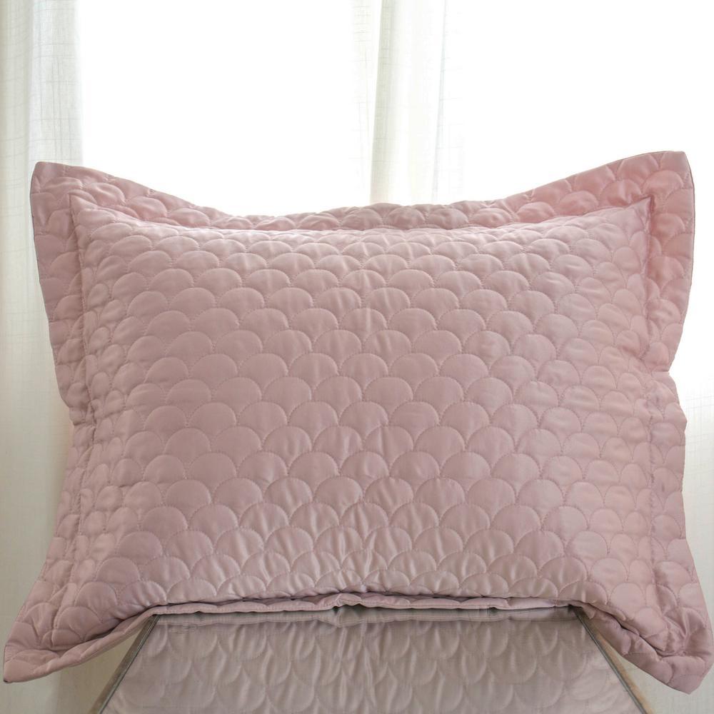 Rose Gold Queen Quilted Pillow Sham