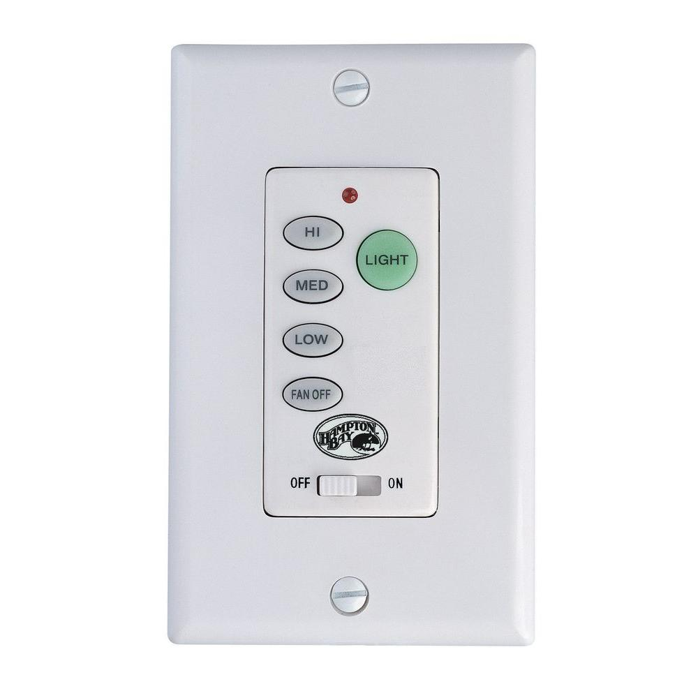 Hampton bay ceiling fan wall control 9050h the home depot hampton bay ceiling fan wall control aloadofball Choice Image