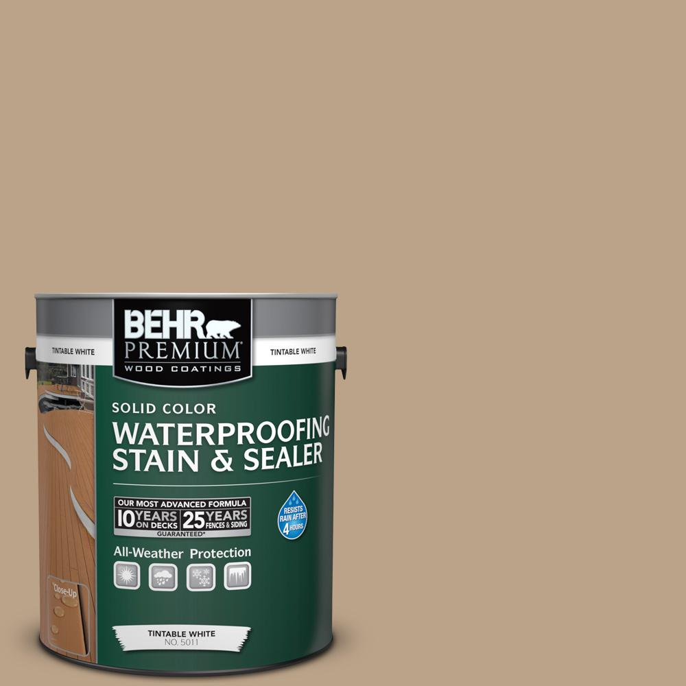 1 gal. #710D-4 Harvest Brown Solid Color Waterproofing Exterior Wood Stain