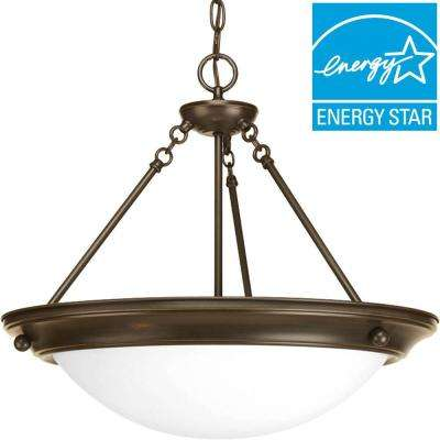 Eclipse Collection 3-Light Antique Bronze Foyer Pendant