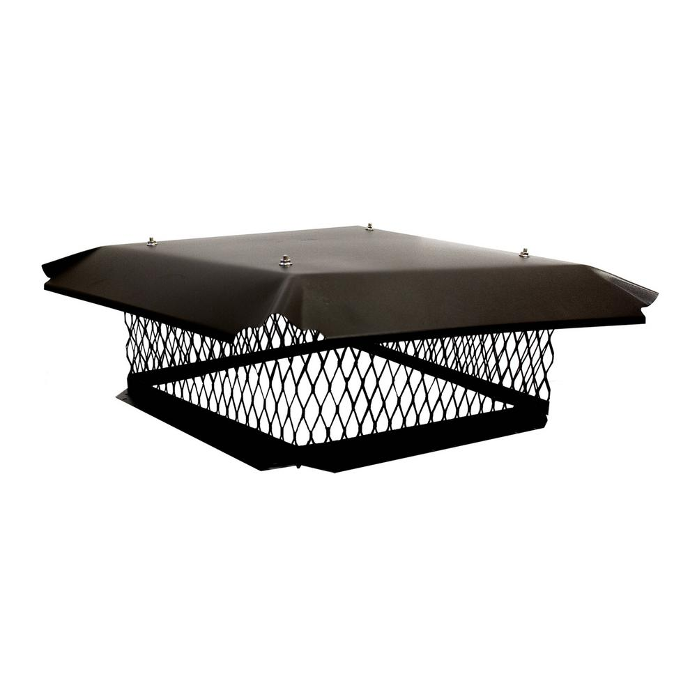17 in. x 17 in. Chimney Cap in Black Galvanized Steel