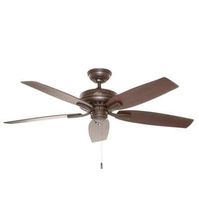 Newsome 52 in. Indoor/Outdoor Premier Bronze Ceiling Fan Bundled with Handheld Remote Control
