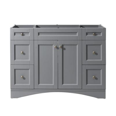 Elise 48 in. W Solid Wood Bath Vanity Cabinet Only in Gray