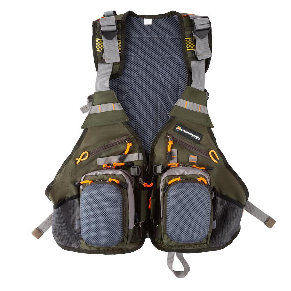 Wakeman Outdoors Wakeman Outdoors 16-Pocket Lightweight Tackle Fishing Vest, Adult Unisex