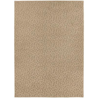 Ivy Tan 7 ft. 6 in. x 9 ft. 6 in. Floral Area Rug