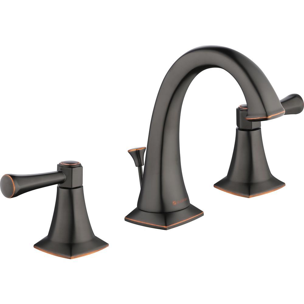 Glacier Bay Stillmore 8 in. Widespread 2-Handle High-Arc Bathroom Faucet in Bronze