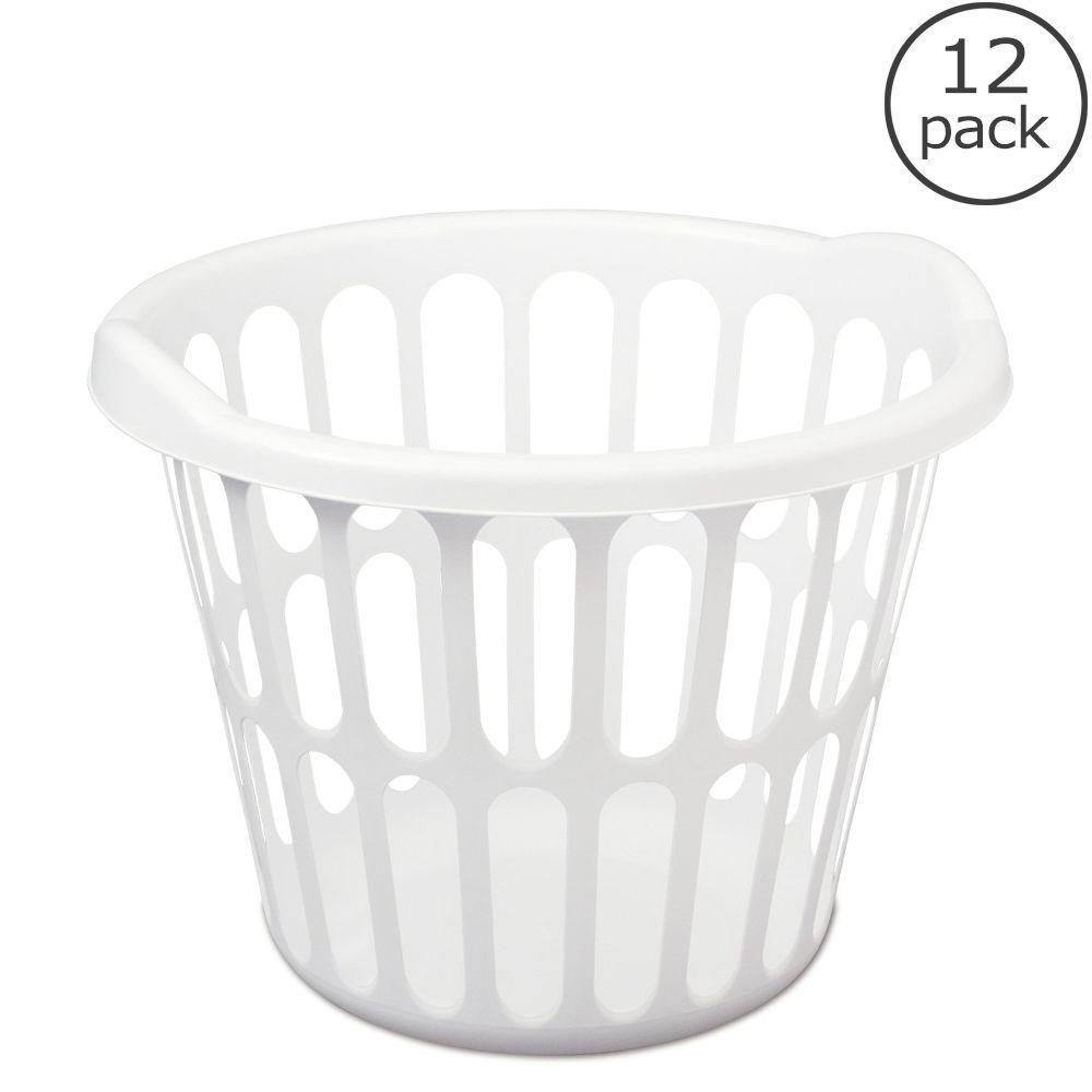 Sterilite 1 Bushel Round Laundry Basket (12-Case)