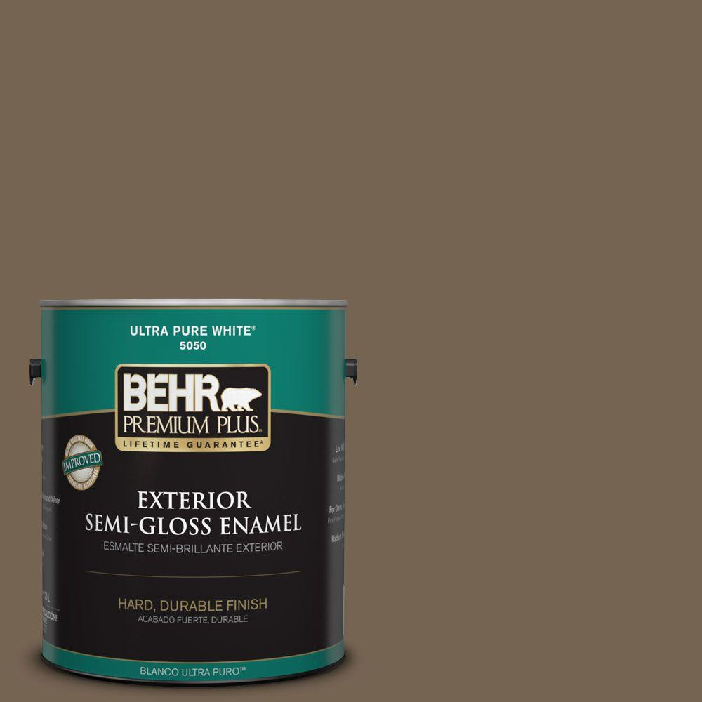 1-gal. #HDC-SM14-4 Tan Bark Trail Semi-Gloss Enamel Exterior Paint