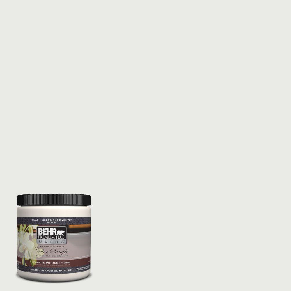 BEHR Premium Plus Ultra 8 oz. #UL260-15 Gallery White Interior/Exterior Paint Sample