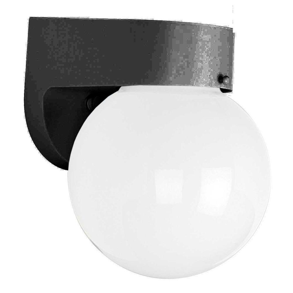 Luminance 1-Light Black Outdoor Lantern with Clear Flemish Panels