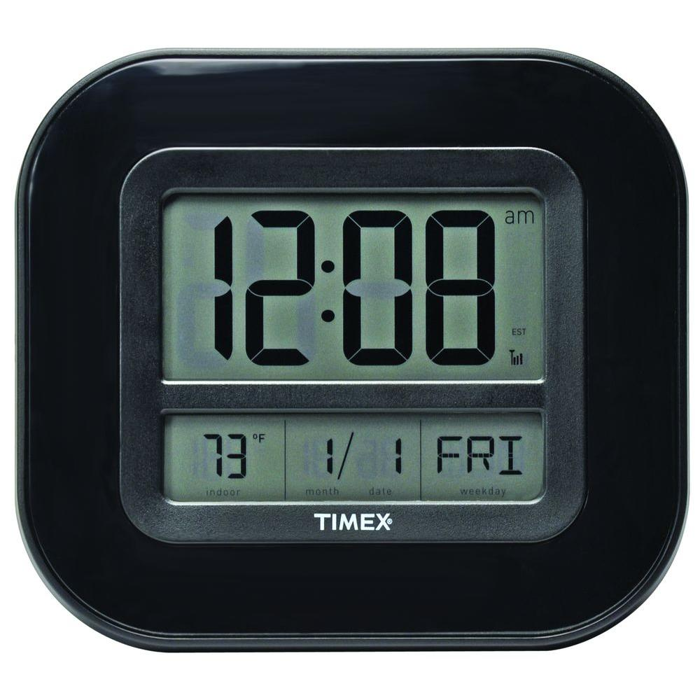 Chaney Instruments 8 in. x 9 in. Atomic Digital Wall Clock