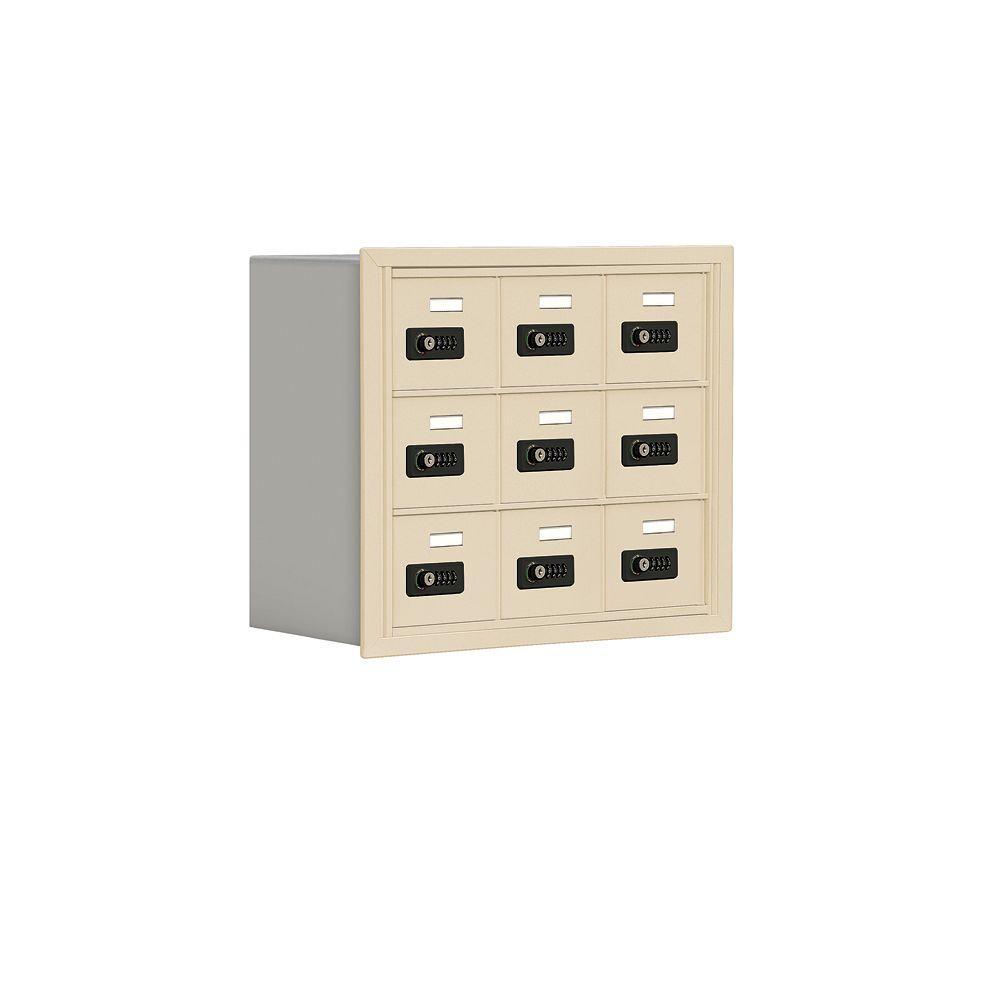 19000 Series 24 in. W x 20 in. H x 8.75 in. D 9 A Doors R-Mount Resettable Locks Cell Phone Locker in Sandstone