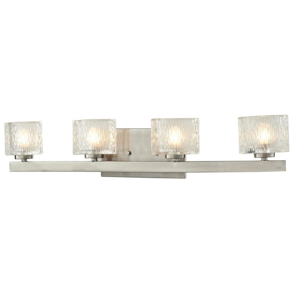 Filament Design Rainfall 4-Light Brushed Nickel Bath Vanity Light