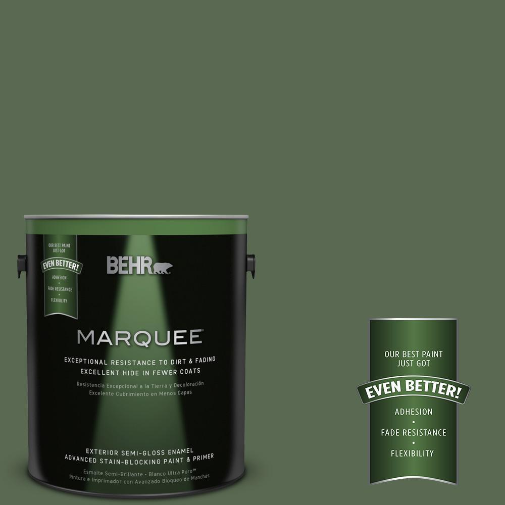 BEHR MARQUEE 1-gal. #S390-7 Trailing Vine Semi-Gloss Enamel Exterior Paint