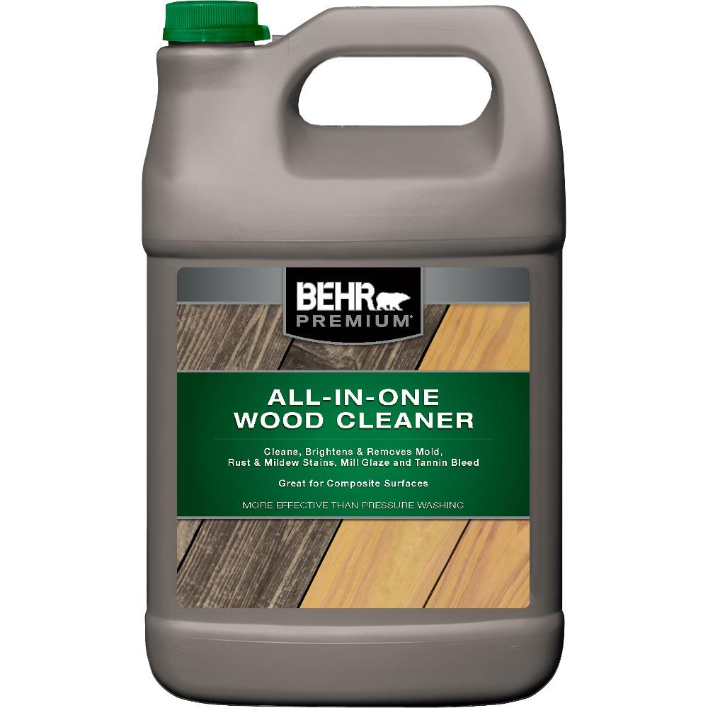 Behr Premium 1 Gal All In One Wood And Deck Cleaner 06301n The