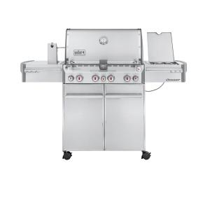 Weber Summit S-470 4-Burner Propane Gas Grill in Stainless Steel with Built-In Thermometer and Rotisserie by Weber