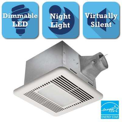 Signature G2 Series 110 CFM Ceiling Bathroom Exhaust Fan With LED Light And  Night Light