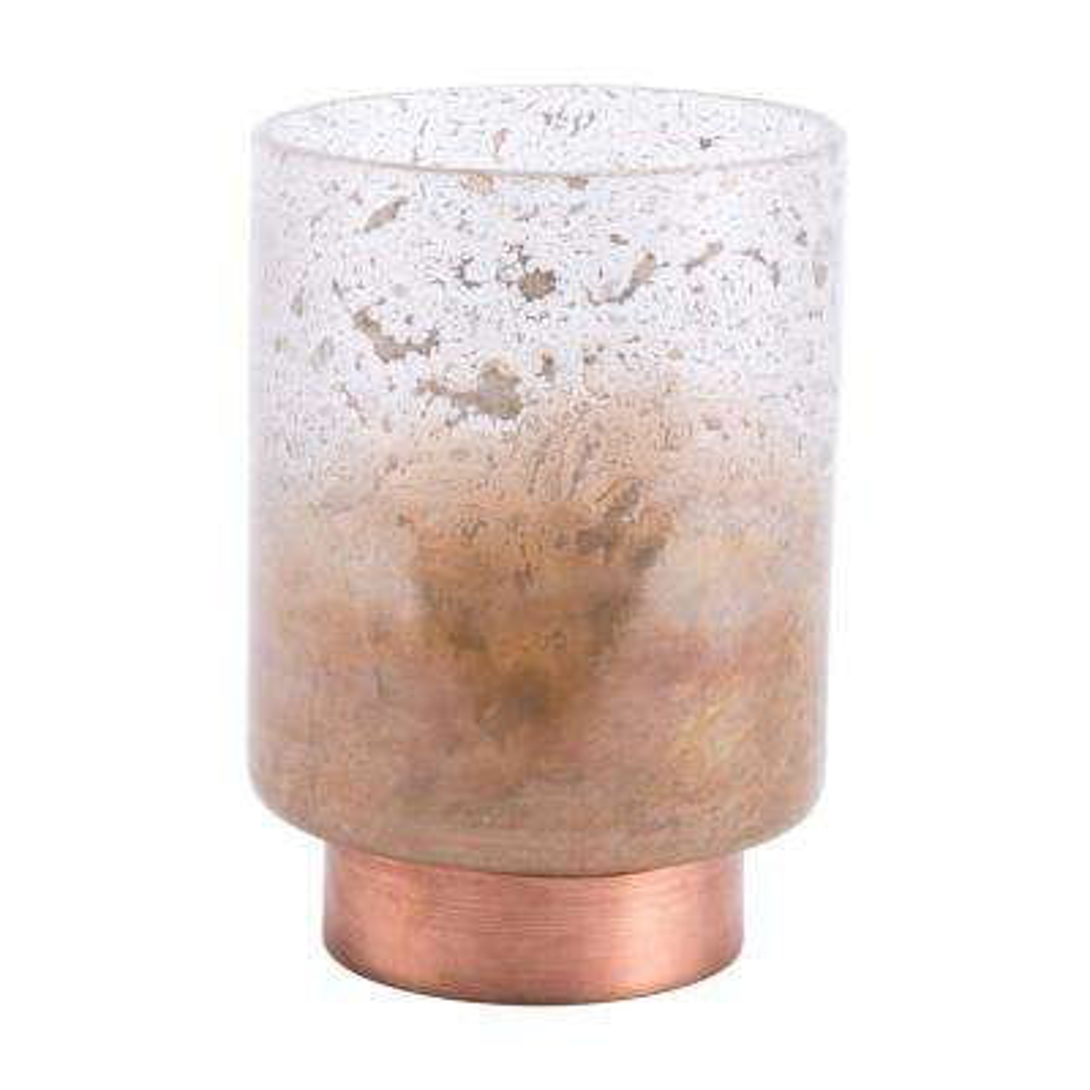 Translucent and Copper Eliza Small Decorative Vase