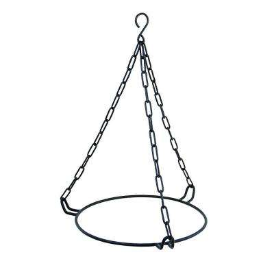 Hanging Ring for 12 in. Bowl, 11 in. Dia, Black Powder Coat