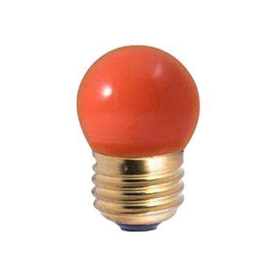 7.5-Watt S11 Ceramic Orange Dimmable Incandescent Light Bulb (25-Pack)