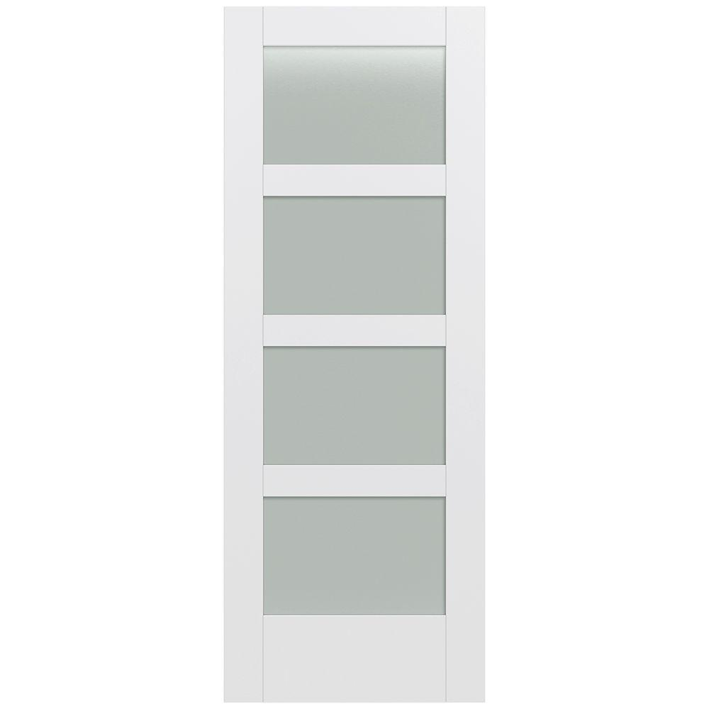 Jeld Wen 32 In X 80 In Moda Primed Pmt1044 Solid Core Wood Interior Door Slab W Translucent