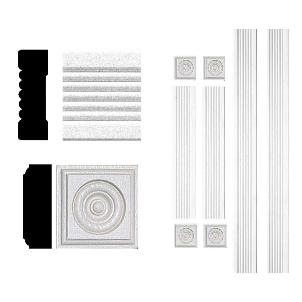 3 4 in x 2 1 4 in x 6 ft mdf fluted window casing set for 1 x 4 window casing