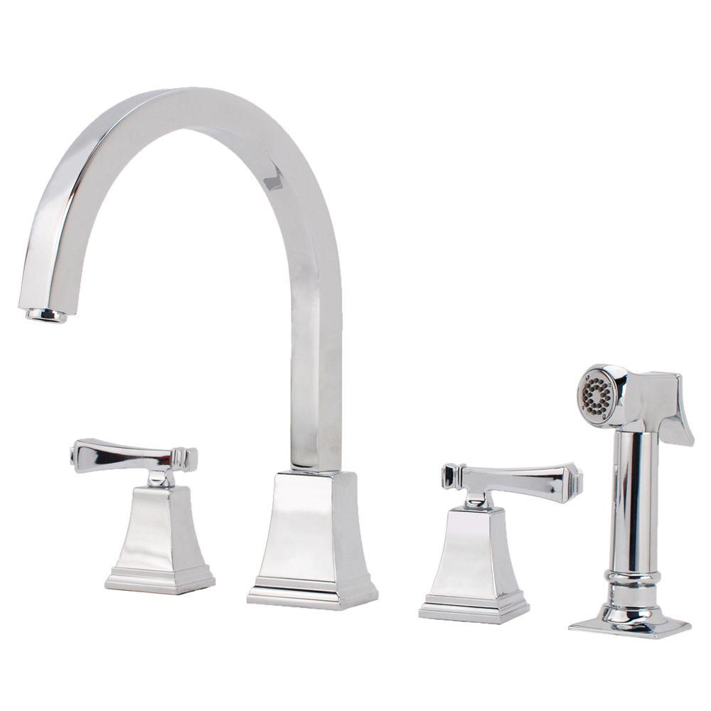 Fontaine Montefiore Italian 2-Handle Kitchen Faucet in Chrome-DISCONTINUED