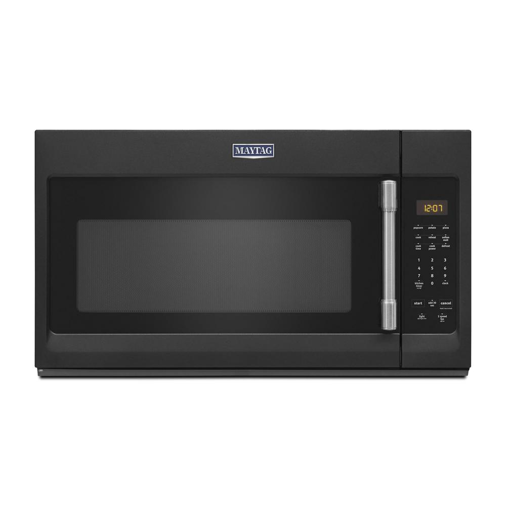 Maytag 1.7 cu. Ft. Over the Range Microwave in Cast Iron Black
