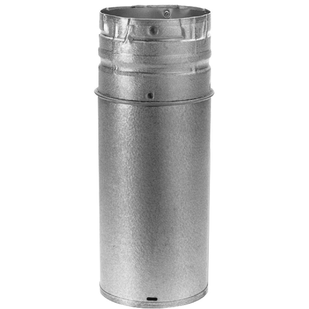 DuraVent PelletVent Multi-Fuel 4 in.-10 in. x 12 in. Adjustable Chimney Stove Pipe