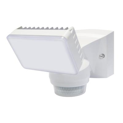 180-Degree White Motion Activated Outdoor Integrated LED Flood Light with 1500 Lumens.