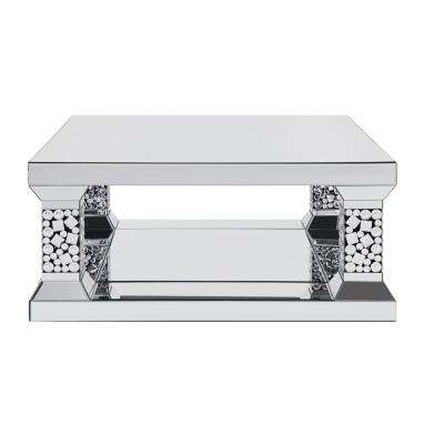 Kachina Mirrored and Faux Gem Coffee Table
