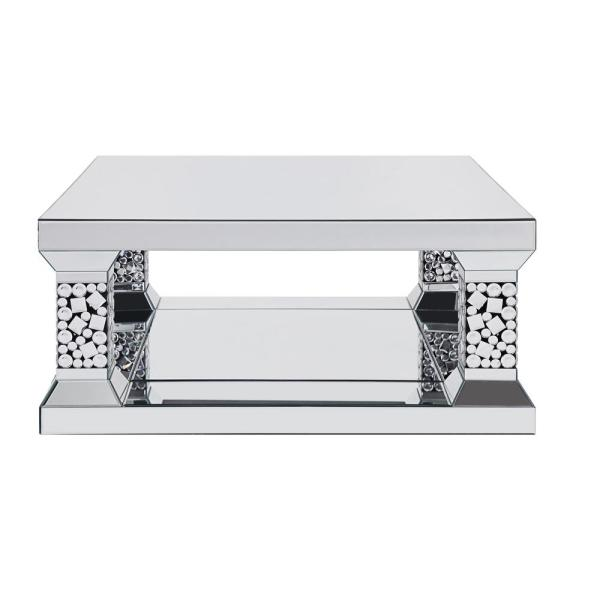 Acme Furniture Kachina Mirrored and Faux Gem Coffee Table