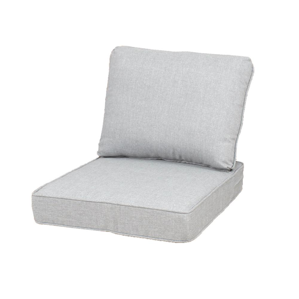 Stupendous Hampton Bay 23 25 X 27 Outdoor Lounge Chair Cushion In Standard Gray Home Interior And Landscaping Oversignezvosmurscom