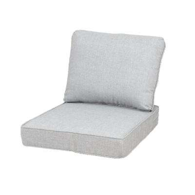 23.25 x 27 Outdoor Lounge Chair Cushion in Standard Gray